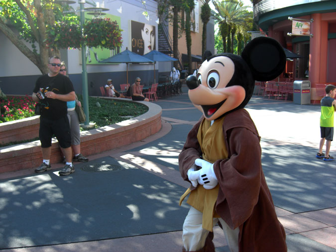 Mickey Mouse as a Jedi Knight