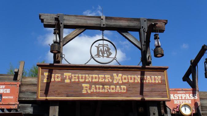 Big Thunder Mountain Railroad entrance sign