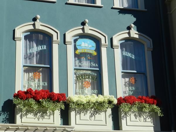 Series of windows honoring Roy E. Disney