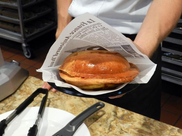 Brioche Ice Cream Sandwich is served!