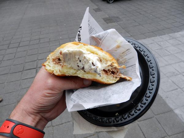 Brioche Ice Cream Sandwich Cross Section