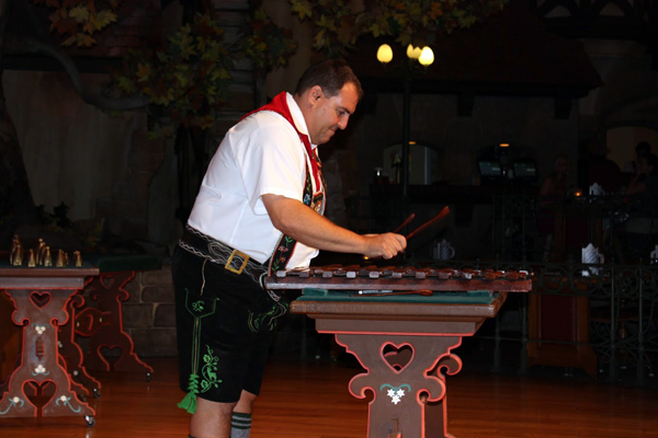 German Man Playing Instrument