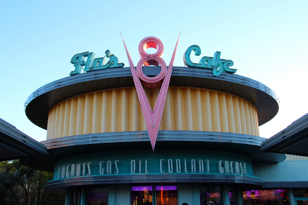 Flo's V8 Cafe in Carsland at Disney California Adventure