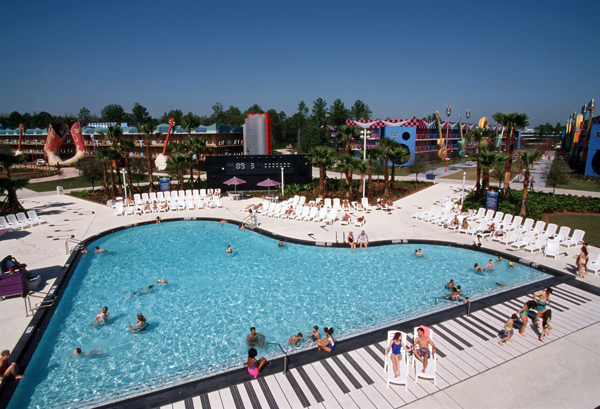 The Piano Pool at Disney's All-Star Music Resort