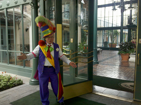 Doorman at Disney's Port Orleans French Quarter