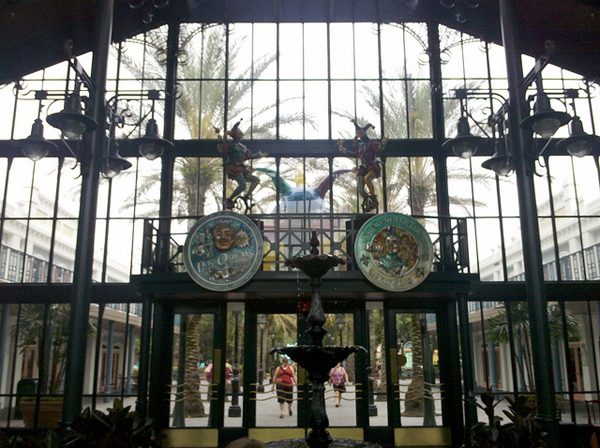 The Lobby at Disney's Port Orleans French Quarter