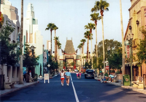 The original view down down Hollywood Boulevard at Disney's MGM Studios