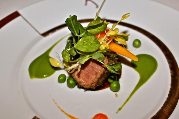 Dining at Remy on the Disney Dream - Herb Crusted Lamb